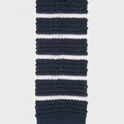 Eldridge Navy blue knitted tie