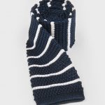 Eldridge Navy blue knitted tie