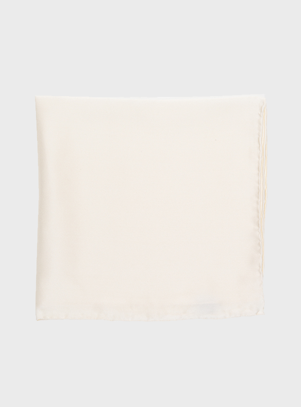 Art Gallery Clothing White Pocket Square