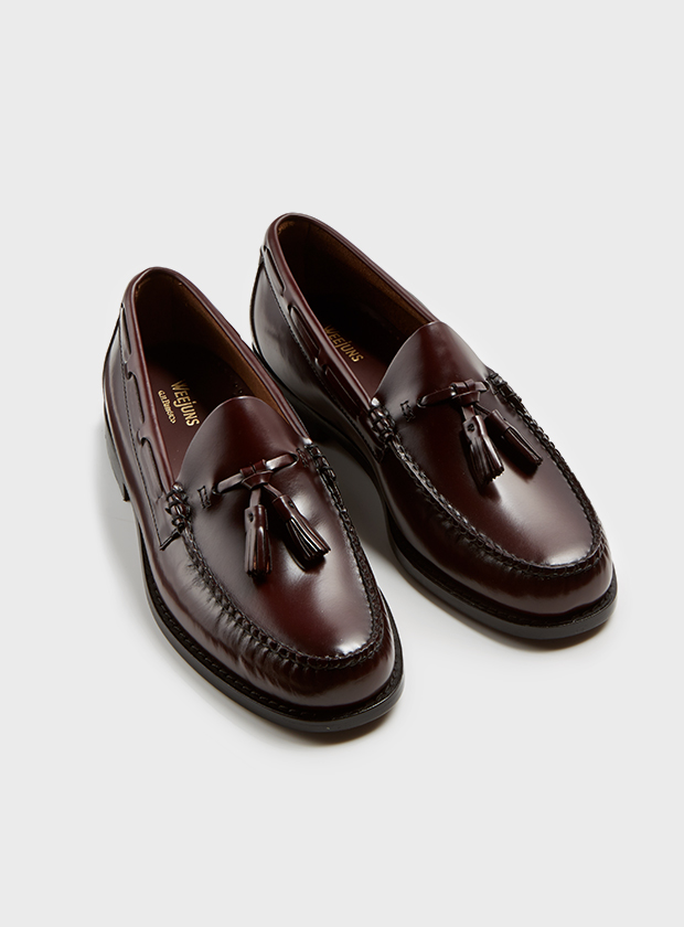 Art Gallery Clothing Larson wine handsewn moc tassel loafer bass weejuns mod modernist