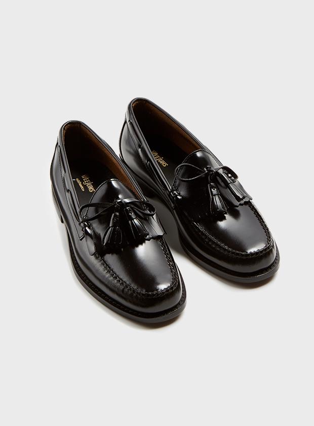 Art Gallery Clothing Larson black handsewn moc kiltie loaferbass weejuns mod modernist